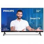 Smart TV Philips 32 32PHG682578 HD sem Bordas HDR Plus 3 HDMI 2 USB Wifi Miracast Preta