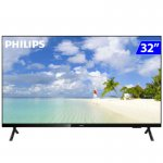 Smart TV Philips 32 PHG682578 HD sem Bordas HDR Plus 3 HDMI 2 USB Wifi Miracast Preta