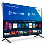Smart TV Philips 43 HG682578 HD sem Bordas HDR Plus 3 HDMI 2 USB Wifi Miracast Preta