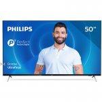 Smart TV Philips 50PUG7625/78 4K UHD P5 HDR10 Bluetooth Wi-Fi 3 HDMI 2 USB Borda Ultrafina Preta