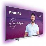 Smart TV Philips 55 55PUG6794/78 4K Ambilight HDR Dolby Atmos Bluetooth Prata