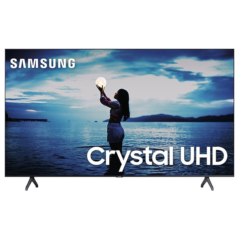Smart TV Samsung 55 TU7020 Crystal UHD 4K 2020 Bluetooth Borda ultrafina Cinza Titan