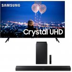 Combo Smart TV Samsung 75 Crystal UHD 4K 2020 TU8000 Borda Ultrafina E Soundbar Samsung Bluetooth