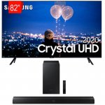 Combo Smart TV Samsung 82 Crystal UHD 4K U8000 Borda Ultrafina E Soundbar Samsung Bluetooth