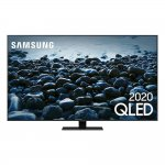 Smart TV Samsung Q80T 65 QLED 4K Borda ultrafina modo ambiente 3.0 Preto