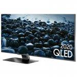 Smart TV Samsung QLED 4K Q80T 75 Modo Game Modo Ambiente 3.0 Borda Infinita Cinza