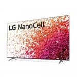 Smart TV LG 75 4K NanoCell 75 HDMI 2.0 ThinqAi Smart Magic Google Alexa Prateado