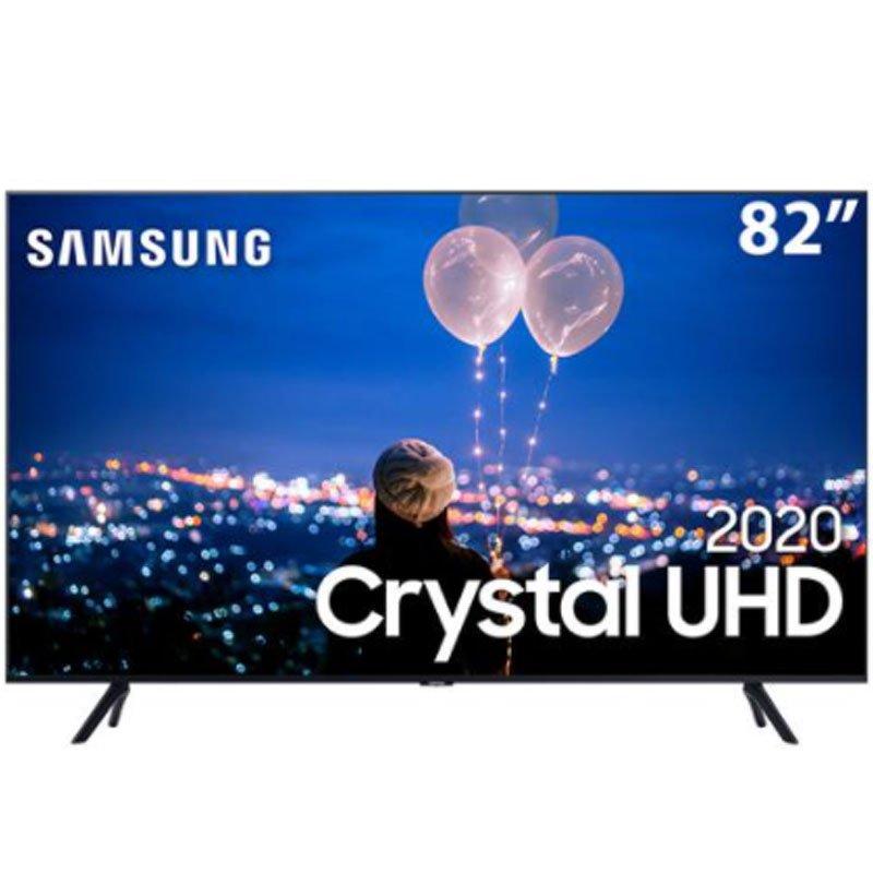 Smart TV Samsung 82 Crystal UHD 4K UN82TU8000GXZD Borda Ultrafina Design Com Cabos Escondidos