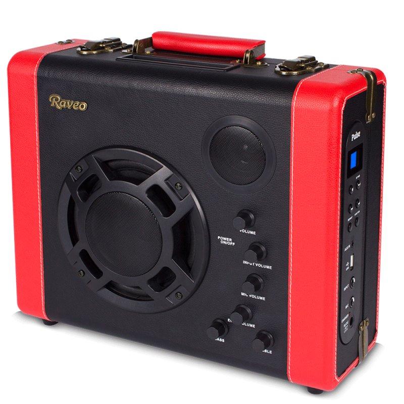 Caixa Amplificada Raveo Pulse 30W Acompanha Microfone com fio Entrada USB e Auxiliar Bivolt