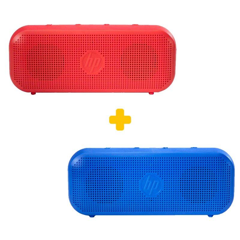 Caixa de Som Portátil Bluetooth HP S400 Azul e Vermelho