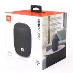 Caixa de Som Portátil ativada por voz JBL Link Music Bluetooth Cinza