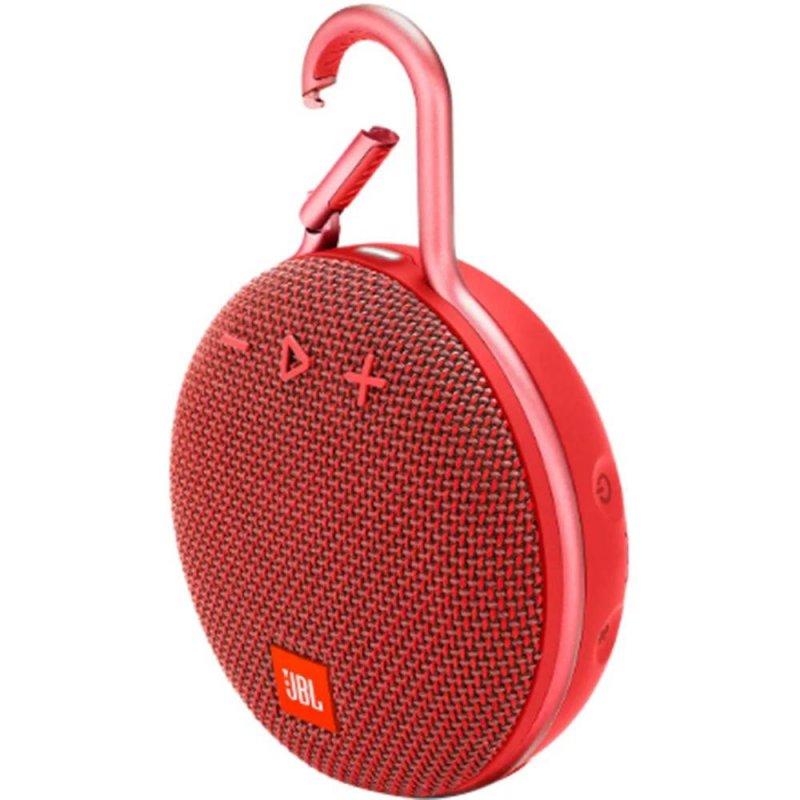 Caixa de som portátil JBL Clip 3 Bluetooth Bateria até 10 horas a prova de água Vermelha