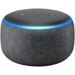 Combo Echo Dot Amazon Smart Speaker Preto Alexa 3a e Lâmpada LED Inteligente Positivo