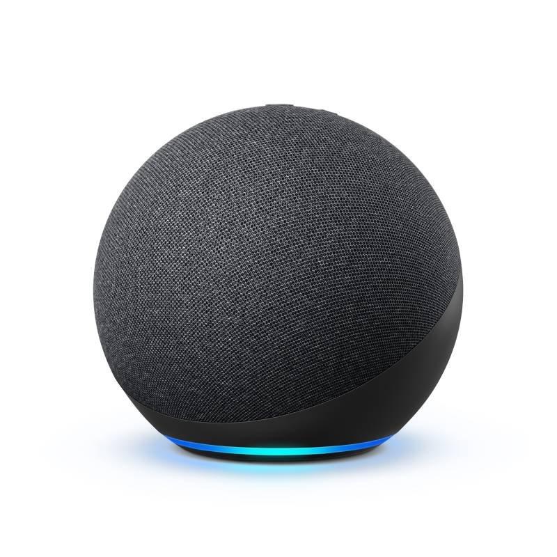 Echo Amazon Smart Speaker Alexa 4a Geração com som Premium Hub em Português Preto