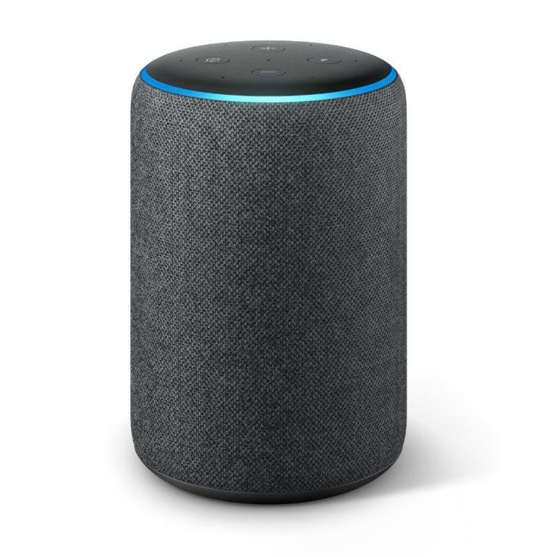 Echo Amazon Smart Speaker Alexa 3a Geração em Portugues Preto