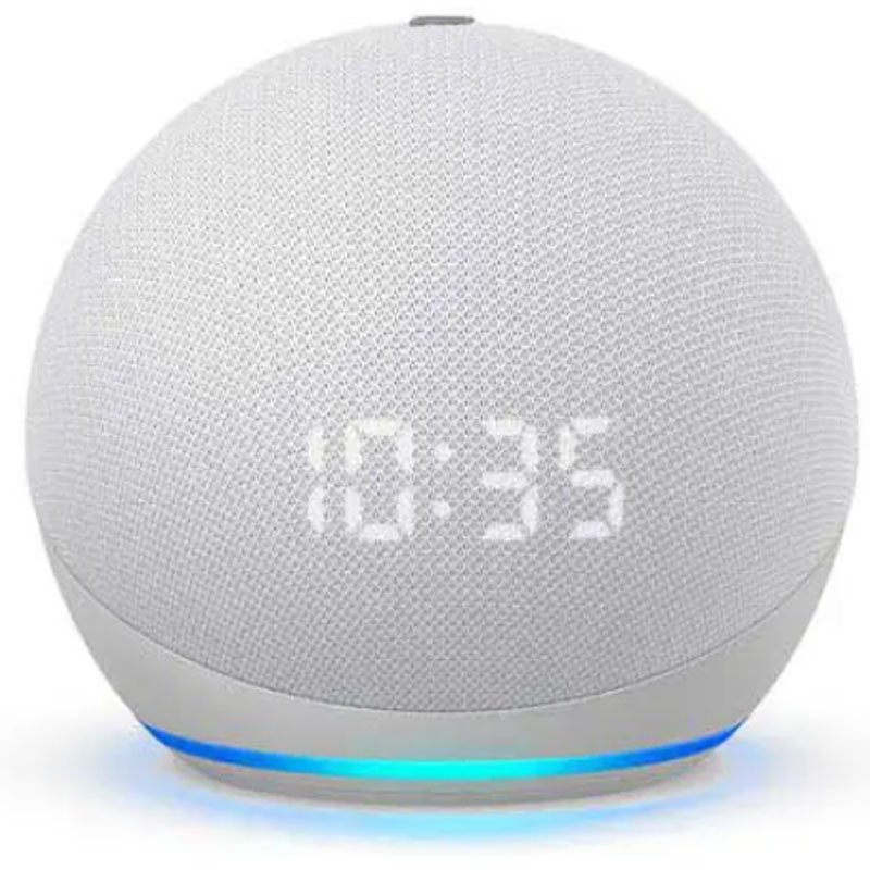 Echo Dot 4a geracao Smart Speaker com Relogio e Alexa - Cor Branca