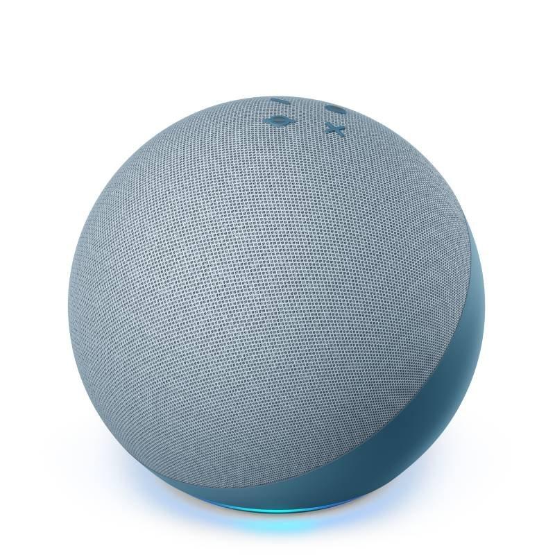 Echo Amazon Smart Speaker Alexa 4a Geração com som Premium Hub em Português Azul