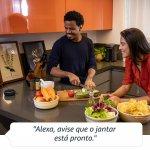 Echo Dot Amazon Smart Speaker Cinza Alexa 3a Geração em Português