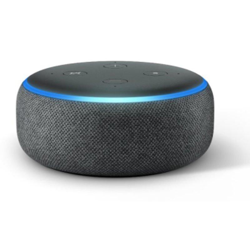 Echo Dot Amazon Smart Speaker Preto Alexa 3a Geração em Português