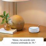 Echo Dot com Relógio Amazon Smart Speaker Alexa Branca