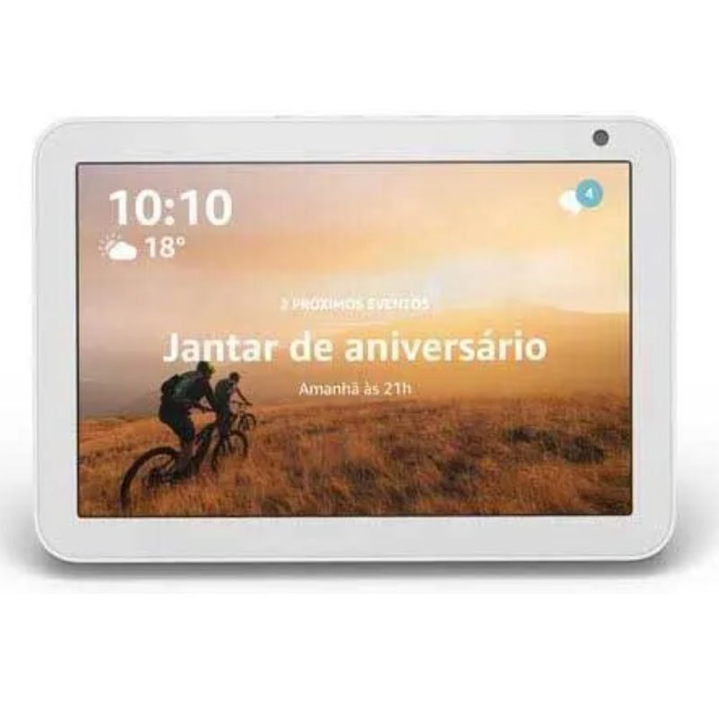 Echo Show 8 Amazon Smart Speaker Branca Alexa em Portugues com Tela de 8