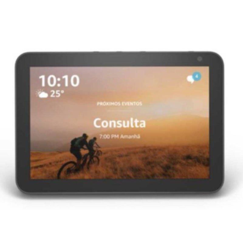 Echo Show 8 Amazon Smart Speaker Preta Alexa em Portugues com Tela de 8