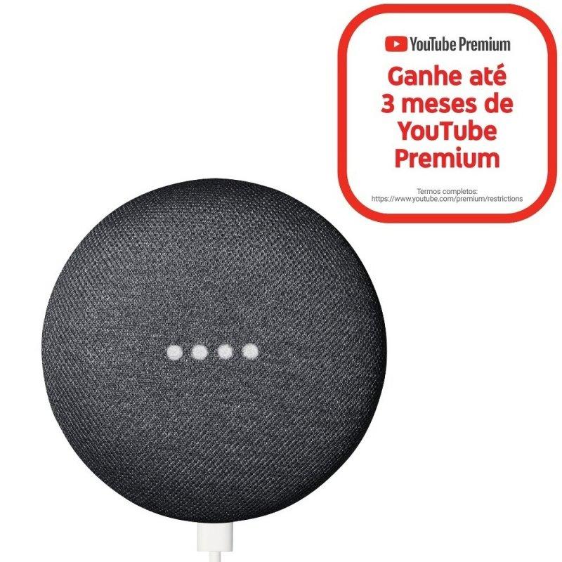 Smart Speaker Nest Mini Carvão 2ª Geração com Google Assistente