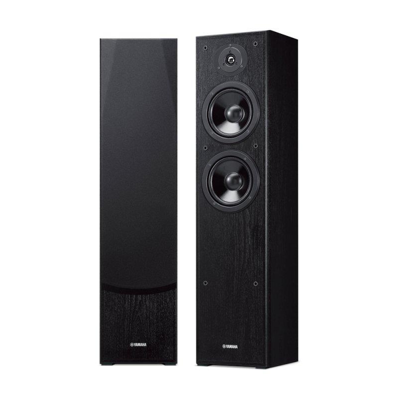 Par de Caixas Acústicas Torre Yamaha Preta NS-F51 240W 3 Alto Falantes com 2 woofers de 16cm