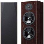 Par de Caixas Acústicas Torre Yamaha Walnut NS-F51 240W 3 Alto Falantes com 2 woofers de 16cm