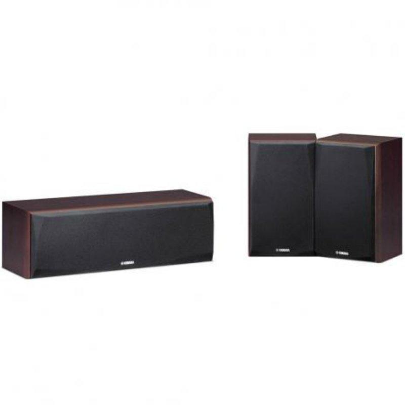 Kit de Caixas Acústicas Yamaha NS-P51 2 Surrounds e 1 Central para Sistemas de Home Theater 150W