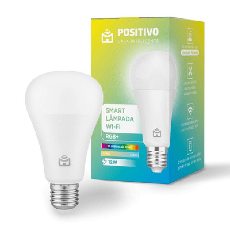 Lâmpada LED Inteligente Positivo Home Smart RGB+ WIFI Branco Quente e Frio 12W Bivolt