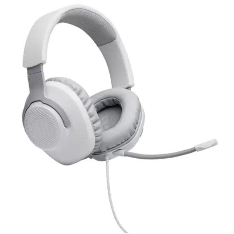 Fone de Ouvido JBL Over Ear JBLQUANTUM100WHT Para Jogos com Fio e Microfone Removível Branco