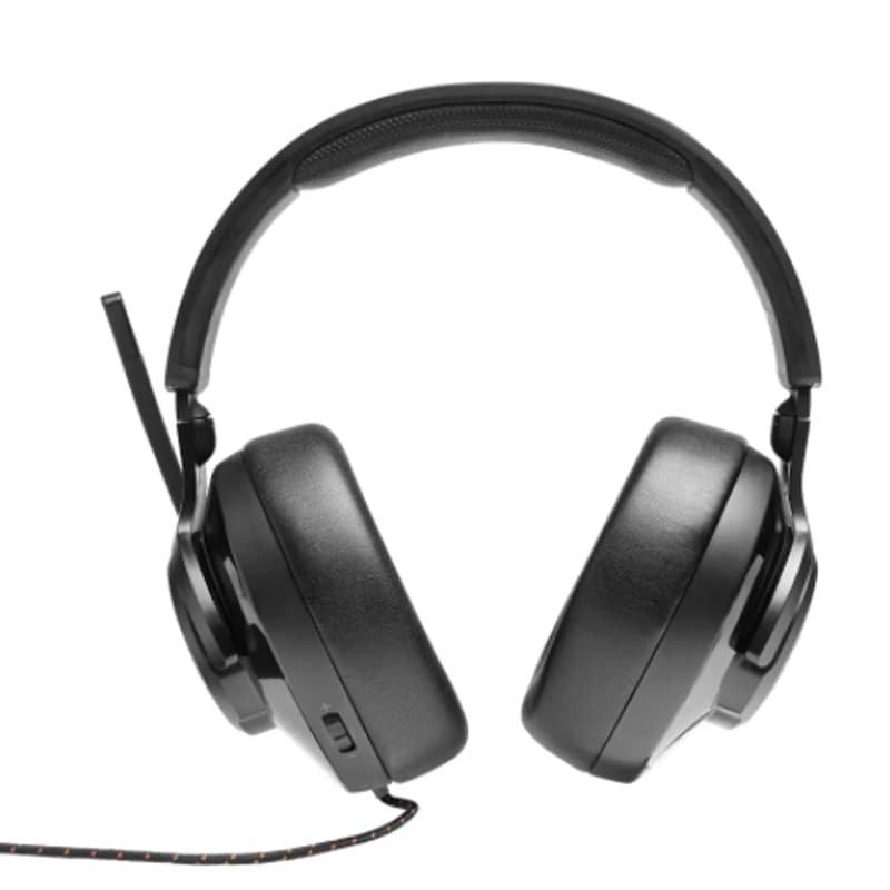 Fone de Ouvido JBLQUANTUM200 Over Ear para Jogos com Fio e Microfone Flip Up Preto