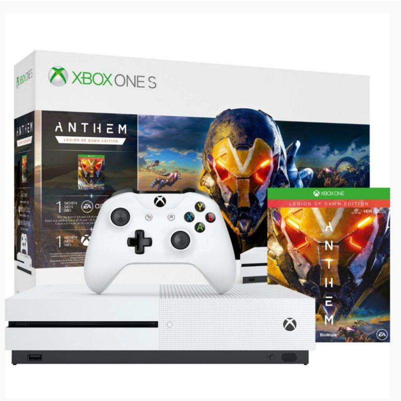 Xbox One S 1TB Branco com Game Anthem Microsoft