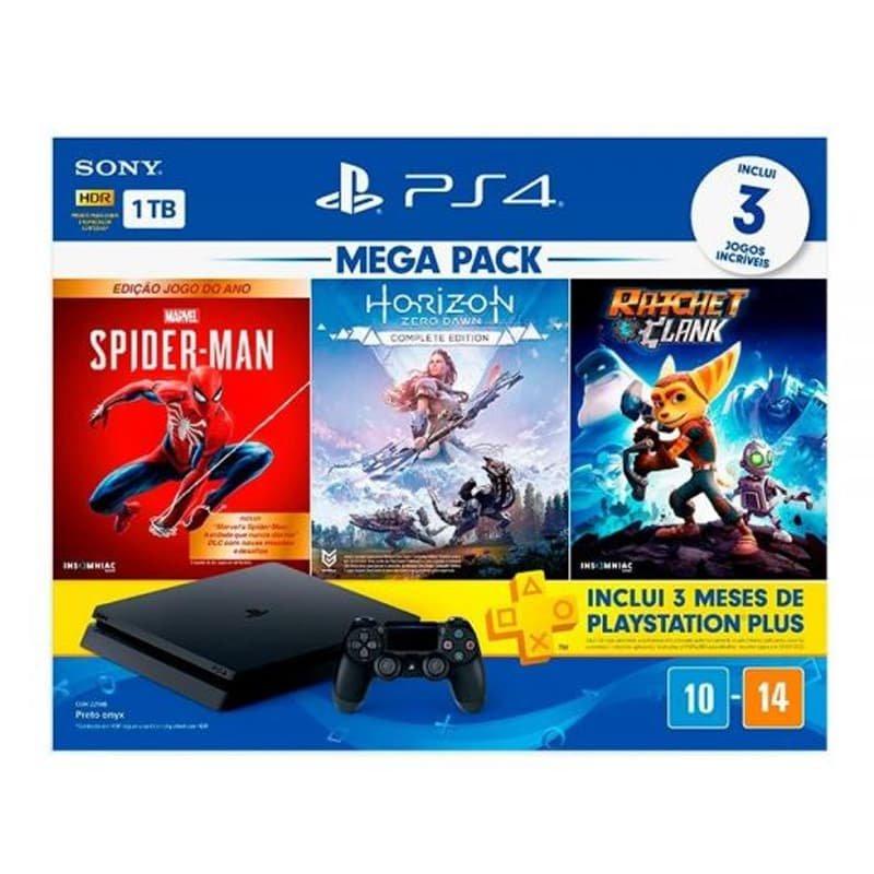 Console Playstation 4 Mega Pack 15 1TB com Jogos