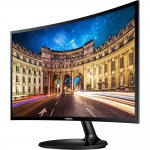 Monitor Gamer Curvo Full HD Samsung LED 24 LC24F390FHLMZD HDMI Entrada para Headphone