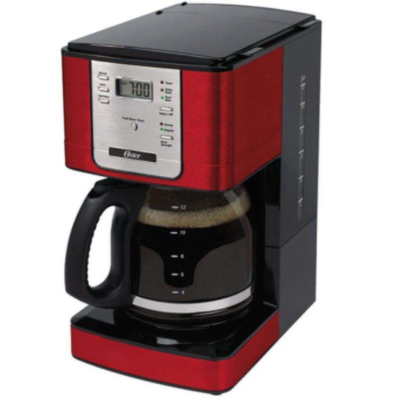Cafeteira Flavor Programavel Oster 1.8L com Filtro Permanente de Nylon Vermelha Bvstdc4401rd 017 127