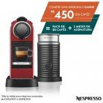 REEMBALADO Máquina de Café Nespresso Citiz C113 Vermelho Cereja com Aeroccino 3 127V