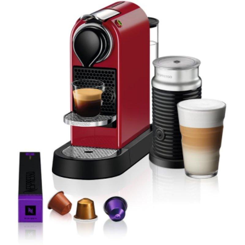 Máquina de Café Nespresso Citiz C113 Vermelho Cereja com Aeroccino 3 220V