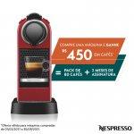 Máquina de Café Nespresso CitiZ Vermelho Cereja 220V