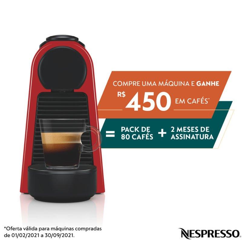 Máquina de Café Nespresso Essenza Mini D30 220V Vermelha