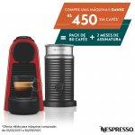 Máquina de Café Nespresso Essenza Mini Vermelha com Aeroccino 3 127V