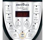 Panela de Pressão Elétrica / Britânia / 5 Litros / Preto e Prata / 110V