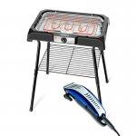 Combo Churrasqueira Eletrica Grand Steak e Grill II Mondial CH06 220V e Cortador de Cabelos Hair Sty