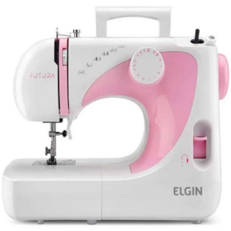 Máquina de Costura Portátil Elgin JX-2040 Futura 127V para Uso Doméstico