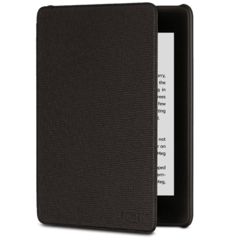 Capa de Couro Protetora Amazon para E-Reader Kindle Novo Paperwhite Preta