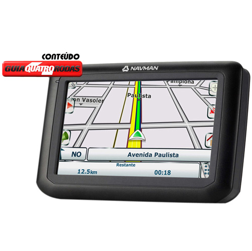 GPS NAVMAN F25 4,3  ALERTA RADARES + 1200 CIDADES