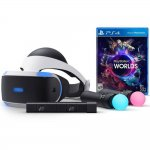 Óculos de Realidade Virtual PlayStation VR e Game Worlds PS4