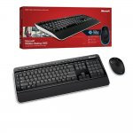 Teclado e Mouse Microsoft Wireless Desktop 3000 Preto / MFC-00006