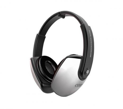 Fone de Ouvido Coby Headphone CV163 / Prata / Conchas Acústicas Almofadadas / Graves Profundos